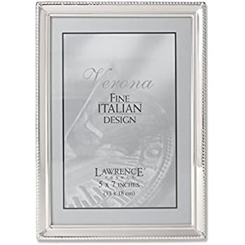 Amazon.com - Lawrence Frames Polished Silver Plate 5x7 Picture Frame ...