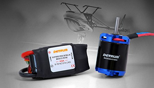 Helicopter Rc Esc - DYNAM Detrum BM2822H KV3800 Motor 40A ESC Power Combo DY-1045 for T-REX 450 RC Helicopter