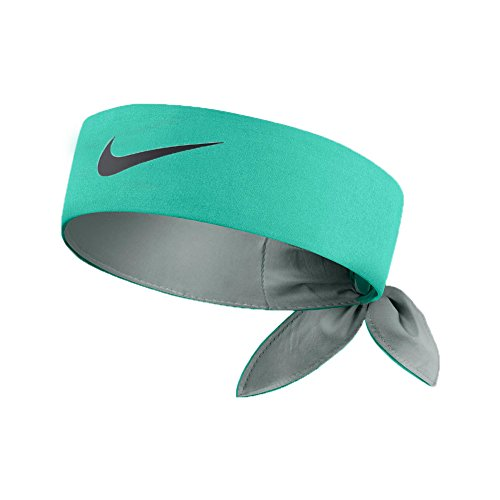 Nike Head Tie Headband [Lt RETRO (Teal)/Navy] by Nike (Image #1)