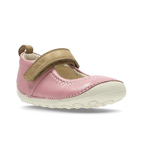 Clarks Little Atlas, Mocasines Gatean para Bebés Vintage Pink