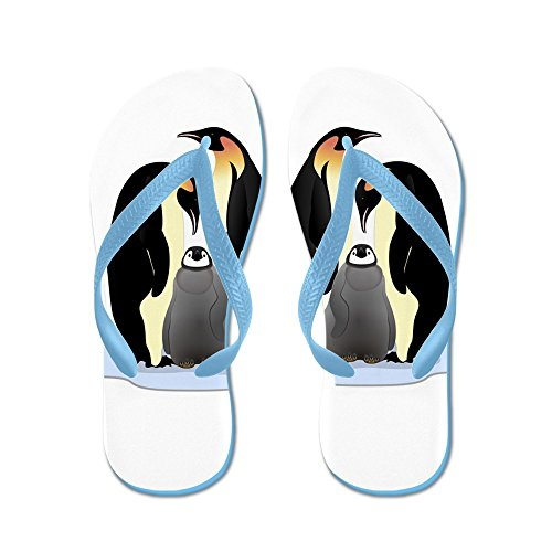 Truly Teague Mens Emperor Penguin Family Huddled Together Rubber Flip Flops Sandals Caribbean Blue dr85p6qOX