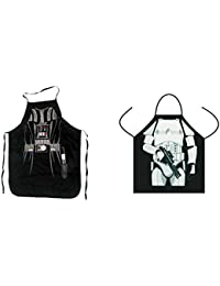Take (Set of 2) Star Wars Darth Vader and Stormtrooper Aprons Kitchen Cooking with Gift Box saleoff