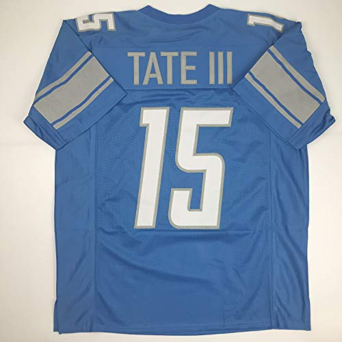 Unsigned Golden Tate Detroit Blue Custom Stitched Football Jersey Size XL New No Brands/Logos