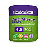 Slumberdown Anti Allergy 4.5 Tog Duvet, White, Double