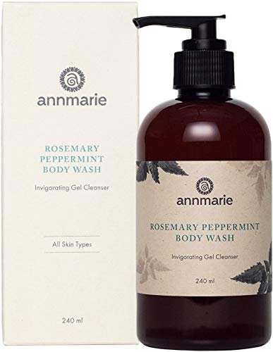 Annmarie Skin Care Rosemary Peppermint Body Wash – Gel Body Cleanser with Rosemary, Peppermint Essential Oil, Lemon Balm Aloe Vera 8 fl oz
