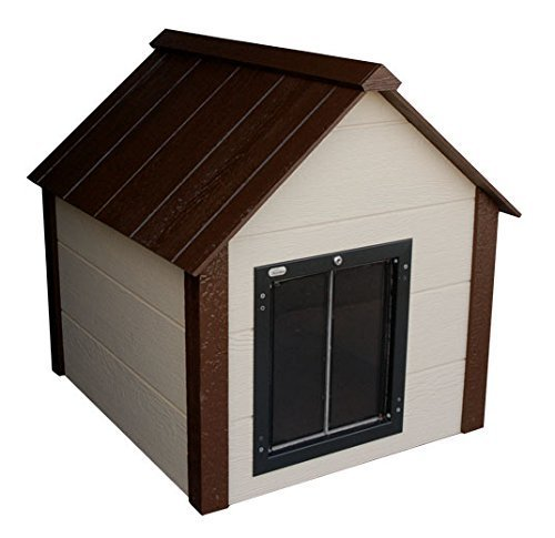 Climate master plus insulated dog house w door large for Large insulated dog house