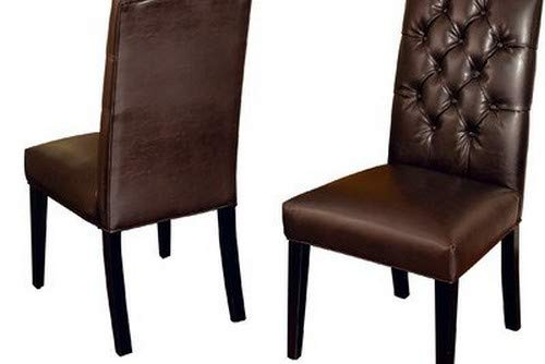 Best Selling Crown Top Leather Dining Chair