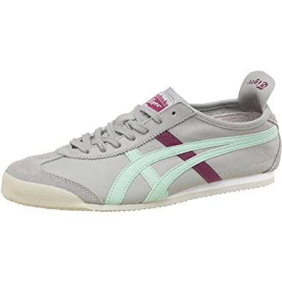 buy popular 535db e2902 Womens Onitsuka Tiger Mexico 66 Leather Trainers Grey/Soft ...
