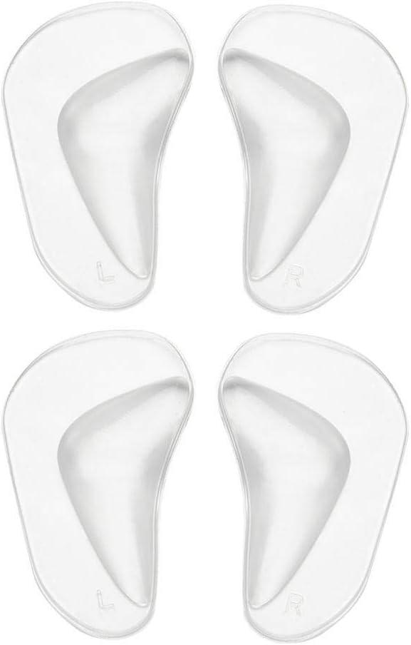 Plantillas ortopédicas de silicona, 2 pares/juego de plantillas ortopédicas de gel para pies y pies con almohadilla para calzado, almohadillas para pies planos, plantilla para fascitis plantar