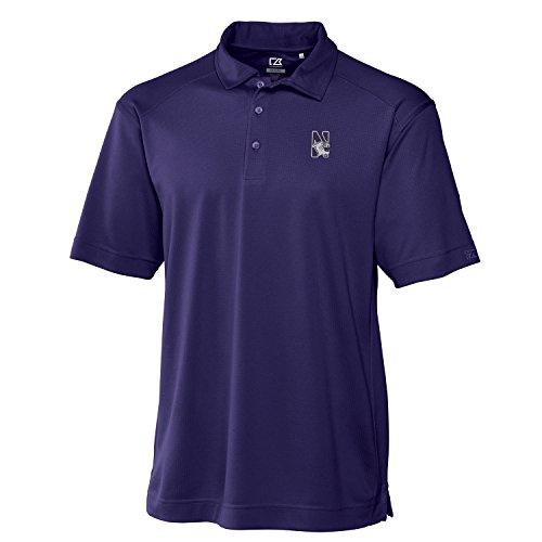 NCAA Northwestern Wildcats Men's Genre Polo Shirt, Medium, College Purple