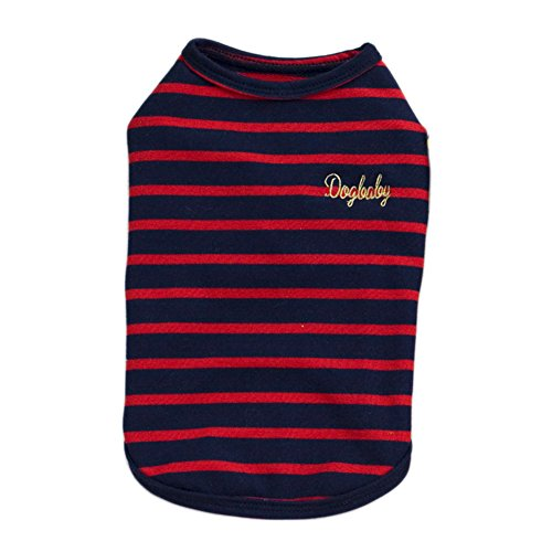 (S-Lifeeling 3 Colors Stripes Sweet Shirts Spring Summer Teddy Dog Clothes Pet Costumes)