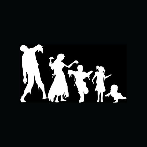 [ZOMBIE FAMILY Stickers Car Truck Window Vinyl Decal Mom Dad Son Daughter Baby :) - Die cut vinyl decal for windows, cars, trucks, tool boxes, laptops, MacBook - virtually any hard, smooth] (Zombie Family Decals)