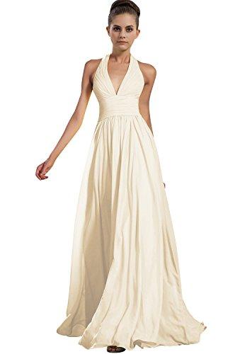 VaniaDress Women Halter Long Bridesmaid Dress Formal Evening Gowns V276LF Ivory US17W from VaniaDress