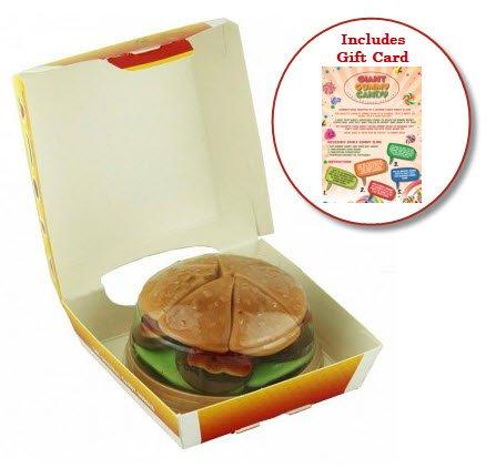 Giant Gummy Burger Candy (4.59oz) – Includes Custom Gift Card (Burger Gummies)