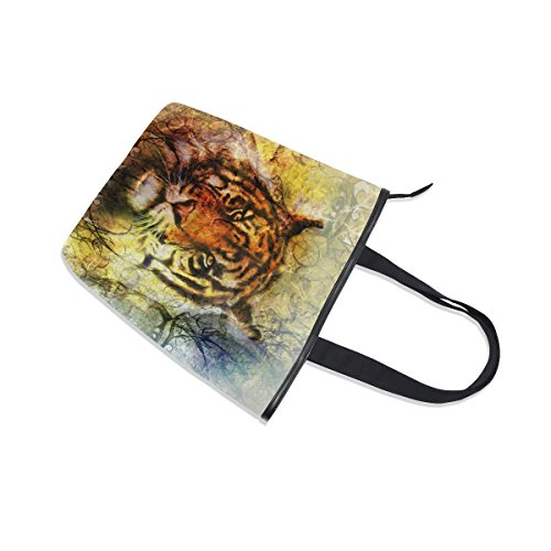 Head Handbag Shoulder Tiger Bag Mighty Womens MyDaily Tote Canvas xqUYwB86