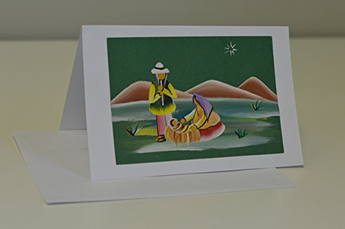 Scene Christmas Card Nativity (Hand-painted Christmas Card,