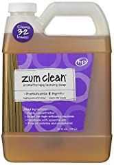 While 'Zum' is a made-up word, Indigo Wild Zum Clean Laundry Soap Frankincense and Myrrh uses ingredients that are not. Natural, low-sudsing, highly concentrated and great for high-efficiency machines, this laundry soap contains coconut oil s...