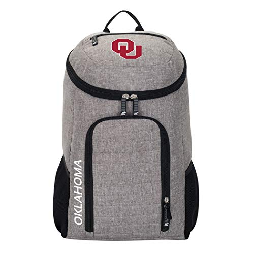 The Northwest Company Officially Licensed NCAA Oklahoma Sooners Topliner Backpack, Gray, 19