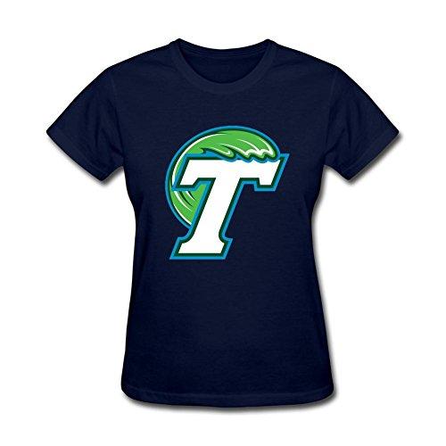 Simshirt Women's NCAA Tulane University Logo Short Sleeve T-Shirt