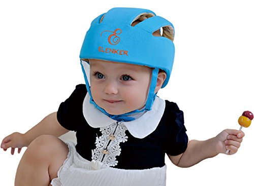 Baby Adjustable Safety Helmet Children Headguard Infant Protective Harnesses Cap Blue from ELENKER