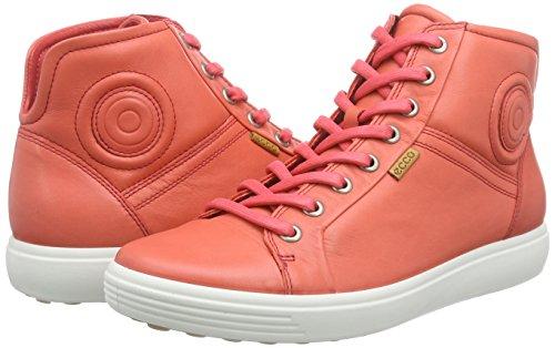 7 Rosso Collo Ecco 1255 Alto Sneaker Donna Blush Soft Ladies A coral 6Sqxq51H