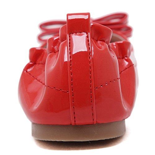 Lucky's Super Punta Piselli Morbida Cono Fashion Selvatici Casual Jds Rosso A arqaFwg