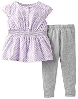 Baby Girls' 2-piece Top & Leggings Set Nb Purple