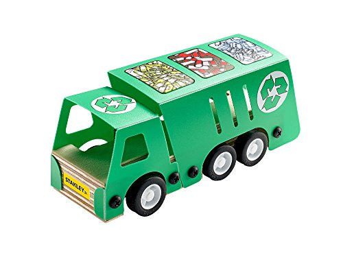 Stanley Jr. Recycling Truck Wood Building Kit Build Toy Truck