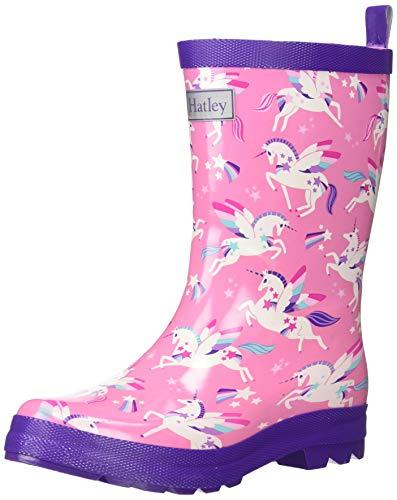 Hatley Girls' Big Printed Rain Boots, Winged Unicorns, 3 US (Winged Unicorns)