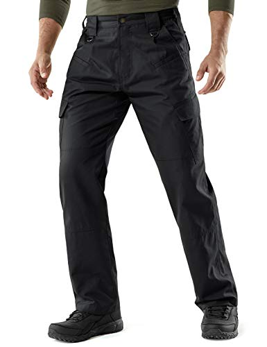 CQR Men's Tactical Pants Lightweight EDC Assault Cargo, Duratex(tlp104) - Coyote, 36W/30L...