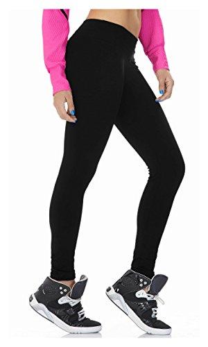 Babalu Fashion Leggings Supplex One Size Activewear Workout Pants Trousers , 15473 Black, One Size