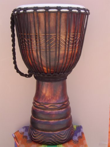 Beautiful 24'' X 14'' Djembe Deep Carved Hand Drum Bongo - Model # 60m19 by madedrums