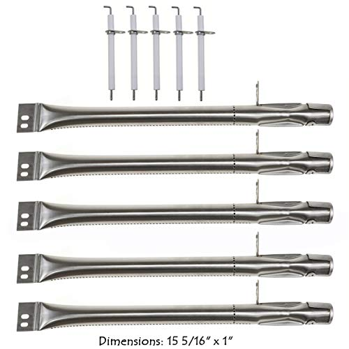 Brinkmann Burners - Hisencn Stainless Steel Grill Burner Pipe Tube, Igniter Electrode Replacement Parts for Brinkmann Brinkman 810-2511-S, 810-2512-S, 810-3660-S, 810-4220-S & More Gas Grill Models