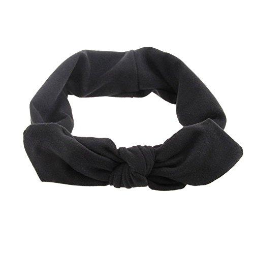 Buy black hair bow headband