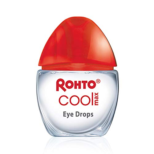 Rohto Cool Max Maximum Redness Relief Cooling Eye Drops, 0.4 Ounce, 3...