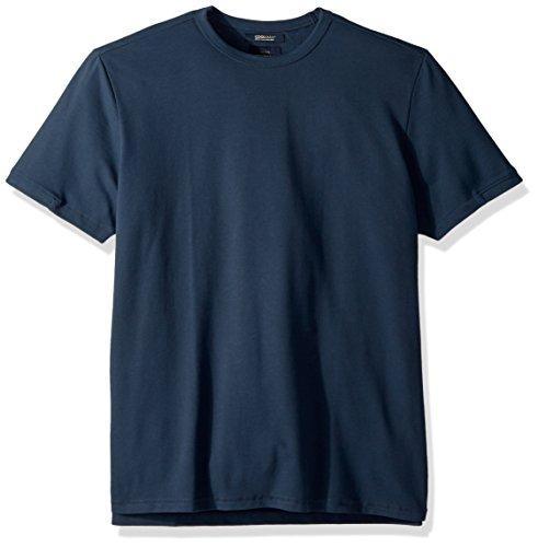 (Lucky Brand Men's Coolmax Pique Crew Neck TEE Shirt, Midnight Navy, L)