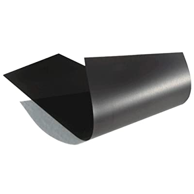 Thin & Flexible Magnetic Material Sheet 8-inch x 12-inch Black for Magnetizing Bumper Sticker or Crafts: Automotive