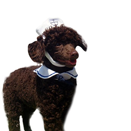 [Voberry® Cat Dog Sailor Costume Hat Navy Tie] (Cheap Pet Cat Costumes)