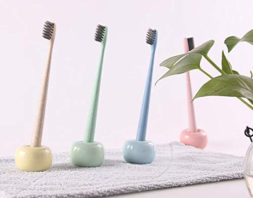 Toothbrush & Toothpaste Holders - 100pcs Creative Toothbrush Holder Multifunctional Candy Color Ceramic Tooth Seat Home Bathroom Brush - Phone Set Brush Stand Toothbrush Bathroom Resin Bathroom by rivalO (Image #2)