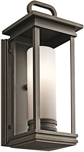 Kichler 49475RZFL South Hope Outdoor Wall Sconce, 1 Light Fluorescent 13 Watts, Rubbed Bronze