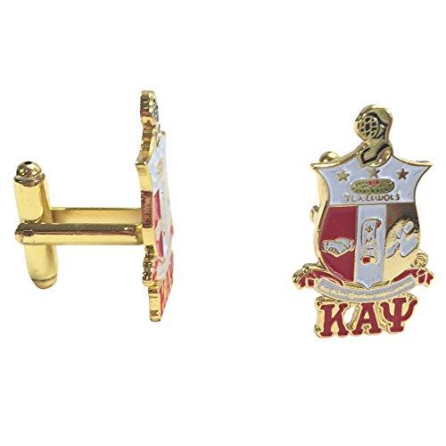 Greek Link (Kappa Alpha Psi G441CL Shield/Crest Gold Color Cufflinks Fraternity Divine Nine Greek)