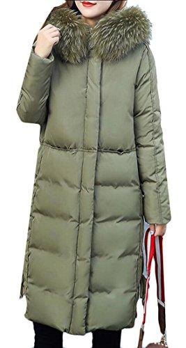 Army Parka M Women's amp;S Fur Green Down Collar amp;W Winter Jackets Puffer Evv6crqYR