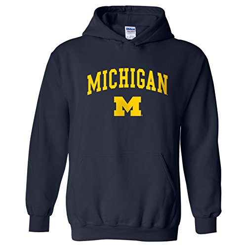 Michigan Wolverines Arch Logo Hoodie - X-Large - Navy