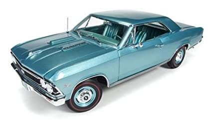 1966 Chevrolet Chevelle SS 396 L78 Artesian Turquoise 50th Engine  Anniversary Limited Edition to 1002pc 1/18 by Autoworld AMM1066