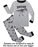 Little Boys Pajamas Dinosaur 100% Cotton Long Sleeve Toddler Pjs Toddler Clothes Kids Sleepwear 12t