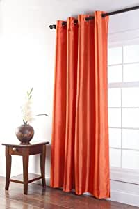 Stylemaster Tribeca 56 by 63-Inch Faux Silk Grommet Panel, Mandarin