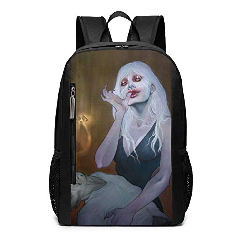Scary Ghost Vampire Witch Halloween Theme Picture Pattern Printed Girls Boy Teen Women Kid Men Gym Sports Gear Bookbag Book Back Mini Bag Laptop Backpack Travel -