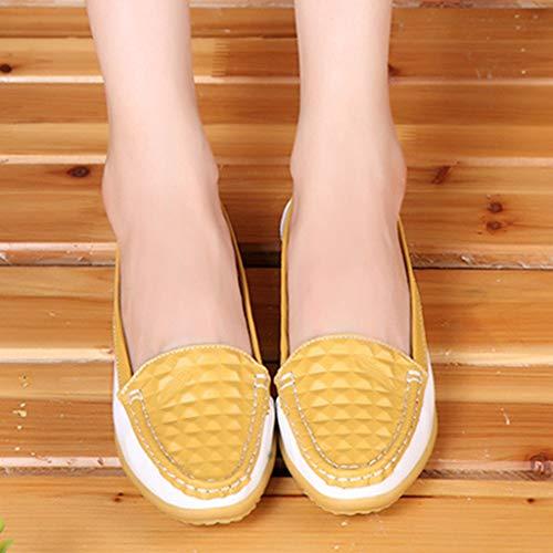 Resistente Respirable Conjunto Zapatos Alta Casuales De Lzw Elasticidad yellow 39eu Baja Desgaste Zapatos Boca Antideslizante Al Ayuda ESwq84Cw