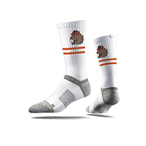 Strideline NCAA Oregon State Beavers Premium Athletic Crew Socks, White, One Size