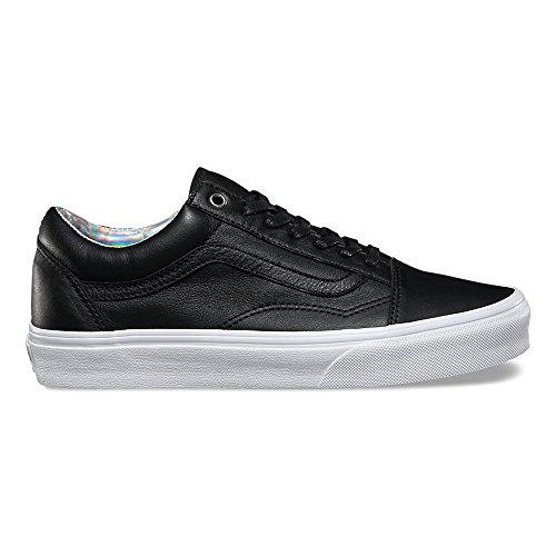 Vans Old Skool (Hologram) Fashion Sneakers, Black/True White, 3.5 Men/5 Women